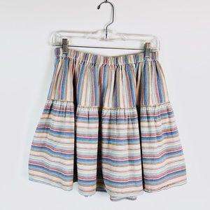 ASOS Rainbow Stripe Boho Skirt F36